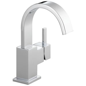 Delta Faucet Vero Single Handle Centerset Bathroom Sink Faucet in Polished Chrome D553LFGPM