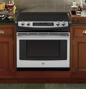 General Electric Appliances 31-1/4 in. 4-Burner Drop-In Electric Range in Stainless Steel and Grey GJD630SFSS