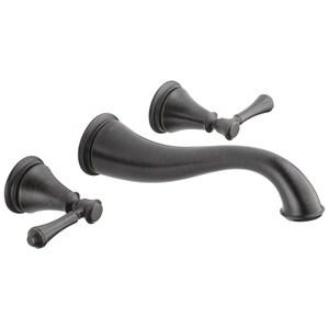 Delta Faucet Cassidy™ Two Handle Widespread Bathroom Sink Faucet in Venetian Bronze DT3597LFRBWL