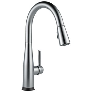 Delta Faucet Essa Single Handle Pull Down Touch Activated Kitchen Faucet With Two Function Spray Magnetic Docking And Touch2o Technology In Arctic Stainless 9113t Ar Dst Ferguson