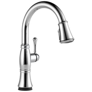 Delta Faucet Cassidy™ Single Handle Pull Down Kitchen Faucet in Chrome D9197TDST