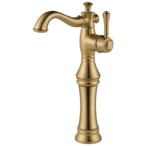 Delta Faucet Cassidy™ Single Handle Vessel Filler Bathroom Sink Faucet in Champagne Bronze D797LFCZ
