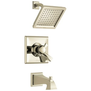 Delta Faucet Dryden™ Two Handle Single Function Bathtub & Shower Faucet in Brilliance® Polished Nickel (Trim Only) DT17451PN