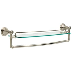 Delta Faucet Cassidy™ 24 in. Glass Shelf with Bar in Brilliance Stainless D79711SS