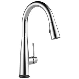 Delta Faucet Essa® Single Handle Pull Down Kitchen Faucet in Polished Chrome D9113TDST