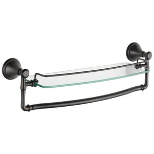 Delta Faucet Cassidy™ 18 in. Glass Shelf with Removable Bar in Venetian Bronze D79710RB