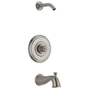 Delta Faucet Cassidy™ No Handle Single Function Bathtub & Shower Faucet in Brilliance® Stainless (Trim Only) DT14497SSLHPLHD