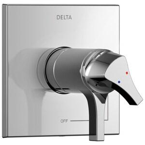 Delta Faucet Zura® Two Handle Bathtub & Shower Faucet in Polished Chrome (Trim Only) DT17T074