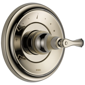 Brizo Charlotte 12 gpm High Flowers Temperature Control Trim in Brilliance Polished Nickel DT66T085PN