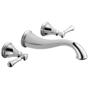 Delta Faucet Cassidy™ Two Handle Widespread Bathroom Sink Faucet in Polished Chrome DT3597LFWL
