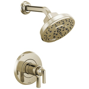 Brizo Levoir™ 6-7/8 in. 1.75 gpm Multi-Function Thermostatic Showerhead Trim Only with Double Lever Handle in Polished Nickel DT60298PN