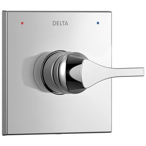 Delta Faucet Zura® Tub and Shower Pressure Balancing Valve with Single Lever Handle in Polished Chrome DT14074