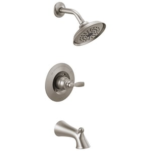 Delta Faucet Woodhurst™ Single Handle Single Function Bathtub & Shower Faucet in Brilliance® Stainless (Trim Only) DT14432SS