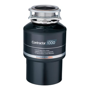 InSinkErator® Contractor 1000™ 1 hp Garbage Disposal in Black ICONTRACTOR1000WC