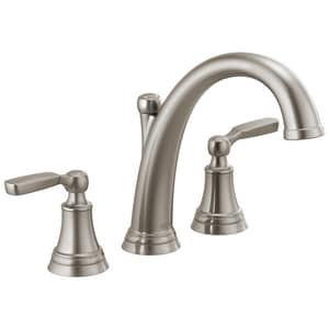 Delta Faucet Woodhurst™ Two Handle Roman Tub Faucet in Brilliance Stainless Trim Only DT2732SS