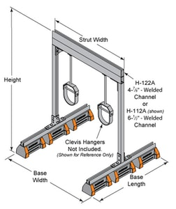 FNW® HBS-PH Series 60 in. Heavy Duty Recycled Rubber Pipe Hanger Support FNW77293660