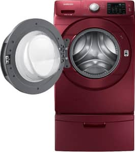 Samsung 33 x 38-11/16 in. 4.2 cf 4-Setting Front Load Washer in Merlot SWF42H5200AFA2