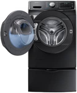 Samsung 34 x 38-37/50 in. 4.5 cf Front Load Washer in Black Stainless SWF45K6500AVA2