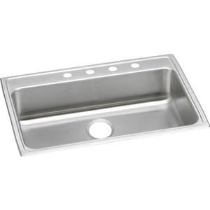 Elkay Lustertone™ Classic 31 x 22 in. 1 Hole Stainless Steel Single Bowl Drop-in Kitchen Sink in Lustrous Satin ELRAD3122551
