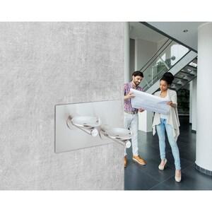 Elkay SwirlFlo® Wall Mount ADA Non-Refrigerated Vandal-Resistant Drinking Fountain in Stainless Steel EEDFPBMV117C