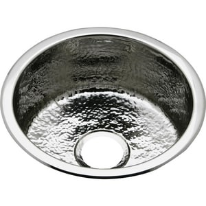 Elkay Specialty Collection 16-3/8 x 16-3/8 in. Drop-in and Undermount Stainless Steel Bar Sink in Hammered Mirror ESCF16FBSH