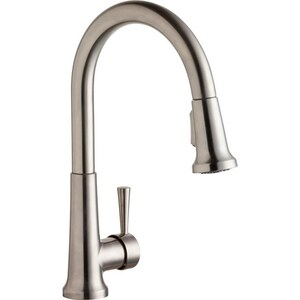 Elkay Everyday Single Handle Pull Down Kitchen Faucet in Lustrous Steel ELK6000LS
