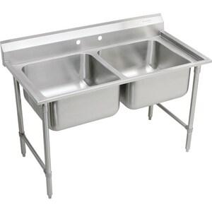 Elkay Rigidbilt® 2-Hole 2-Bowl Service Sink in Buffed Satin ERNSF82362