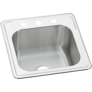Elkay Celebrity® No-Hole 1-Bowl Topmount Laundry Sink in Brushed Satin EESE2020100