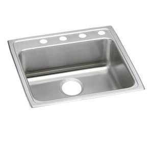 Elkay Lustertone 22 X 22 In 3 Hole Stainless Steel Single Bowl Drop In Kitchen Sink In Lustrous Satin Lrad2222603 Ferguson