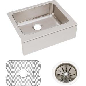 Elkay Gourmet® 7-7/8 in. Stainless Steel Undermount Kitchen Sink in Lustrous Highlighted Satin EELUHF2520DBG