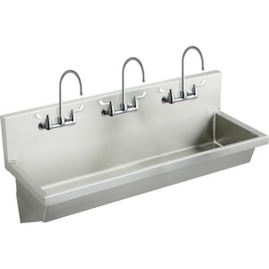 Elkay 60 x 20 in. Complete Wash Sink Stainless Steel EEWMA6020C