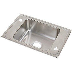 Elkay Pacemaker® 2-Hole 1-Basin Drop-In and Topmount Utility Sink EPSDKR25172