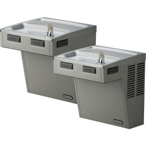 Elkay 27 in. 8 gph Wall Mount Bi-Level Filtered Cooler in Stainless Steel ELMABFTLVR8SC
