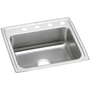 Elkay Celebrity 25 x 22 in. 1 Hole Stainless Steel Single Bowl Drop-in Kitchen Sink in Brushed Satin EPSR25221