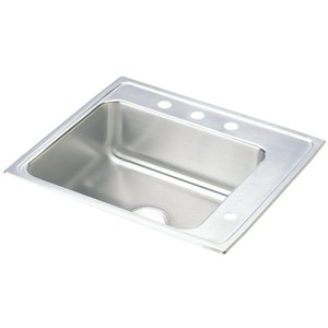Elkay Lustertone® 1-Bowl Topmount Classroom Sink in Lustrous Highlighted Satin EDRKAD222065R4