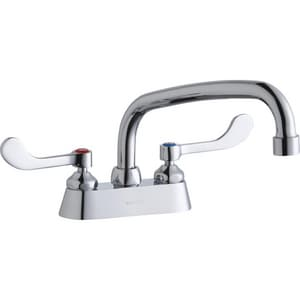 Elkay 2-Hole Scrub and Handwash Faucet with Double Lever Handle in Polished Chrome ELK406AT08T4