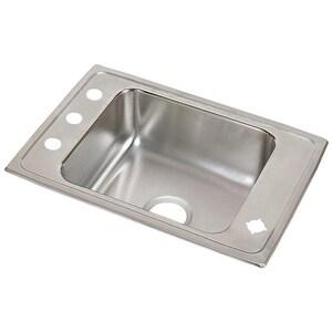 Elkay Lustertone™ Classic 16 x 13-1/2 x 5-3/8 in. Drop-in Classroom Sink in Lustrous Satin EDRKAD2517552