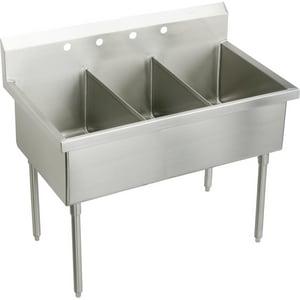 Elkay Weldbilt® 2-Hole Floor Mount Food Service Scullery Sink EWNSF83452