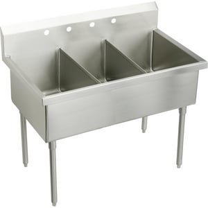 Elkay Weldbilt® 3-Hole Floor Mount Food Service Scullery Sink EWNSF83453