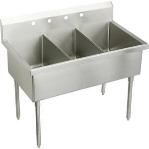 Elkay Weldbilt® 4-Hole Floor Mount Food Service Scullery Sink EWNSF83454