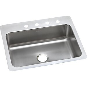 Elkay Gourmet® MR2 Hole Single Bowl Top Mount and Undermount Kitchen Sink with Center Drain ELSR2722MR2