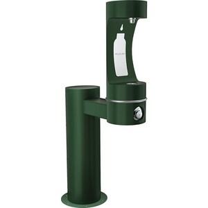 Elkay Outdoor Non-Filtered Non-Refrigerated Pedestal Bottle Filling Station in Evergreen ELK4410BFEVG