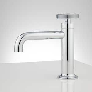 Signature Hardware Edison Single Handle Monoblock Bathroom Sink Faucet in Polished Chrome SH412819