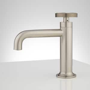 Signature Hardware Edison Single Handle Monoblock Bathroom Sink Faucet in Brushed Nickel SH412817