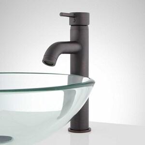 Signature Hardware Rotunda Single Handle Vessel Filler Bathroom Sink Faucet in Dark Antique Bronze SH352216