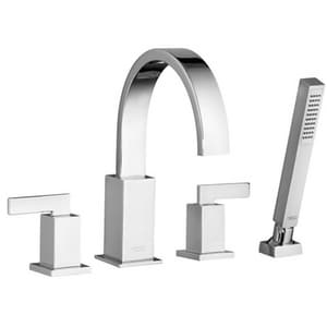 American Standard Times Square® Two Handle Roman Tub Faucet in Polished Chrome (Trim Only) AT184901002