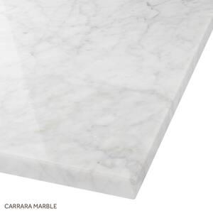Signature Hardware 73 x 22 in. Double Bowl Marble Vanity Top in Carrara SH431066
