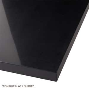 Signature Hardware 25 x 22 in. Single Bowl Quartz Vanity Top in Midnight Black SH430872