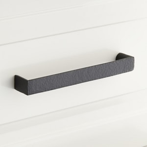 Signature Hardware Grohl 4-3/8 in. Rectangular Cabinet Pull in Matte Black SH453307