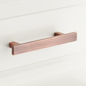 Signature Hardware Covello 5-1/2 in. Rectangular Cabinet Pull in Antique Copper SH453282